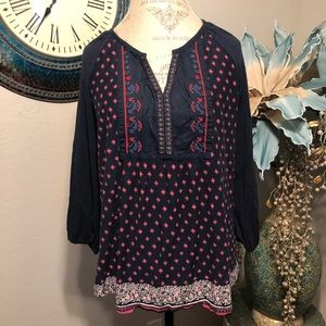 Vintage America embroidered Top Size XXL